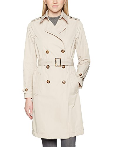 United Colors of Benetton Damen Mantel Trench Coat with Belt, Beige (Beige), Gr. 38 (Herstellergröße: 44)