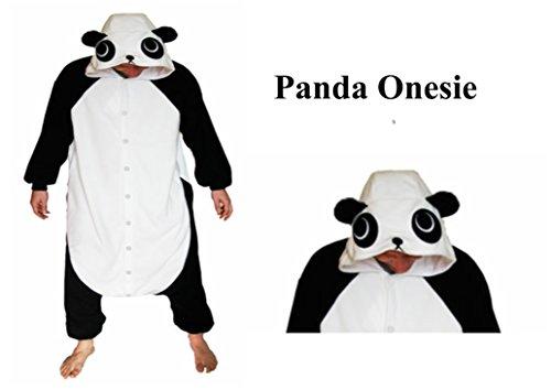 Ecommerce Trade Ltd SchwarzWeiss-Pandakinder Alter 12-14 Strampelanzug-Kostüm Erwachsene -