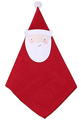 Preisvergleich Produktbild erdbeerloft - Weihnachtsmann, Santa Claus Servietten, 33cm x 33cm, 12 Stück, Mehrfarbig