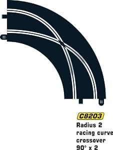 Super Slot 500008203  - Curva de carrera de 90 grados (2 unidades) Importado de Alemania