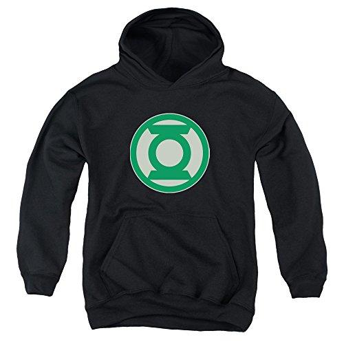 Green Lantern - Youth Grüne Symbol Kapuzenpulli, Large, Black Green Lantern Symbol Hoodie