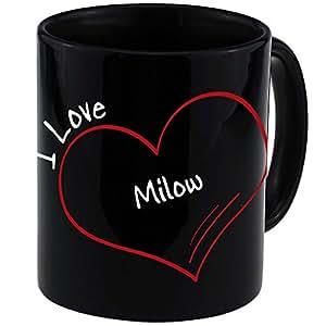 Tasse moderne I Love Milow Noir