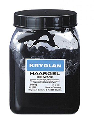 Kryolan Haargel, Schwarz (500g)