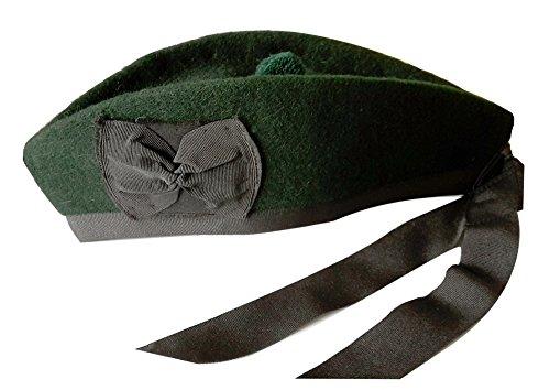 Schottische Glengarry-Mütze, aus 100% reiner Wolle Gr. 59cm UK 7.3/8 US 7.1/2,...