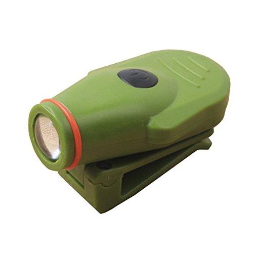 ledholyt 3W CREE-XPE recargable Powered Cap sombrero clip lámpara para la caza Senderismo Pesca linterna frontal luz blanca color verde Carcasa