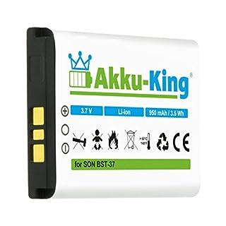 Akku-King Battery for Sony-Ericsson K750i D750i K600i K608i K610i V600i V630i W550i W700i W710i W800i W810i - replaces BST-37 - Li-Ion 950mAh
