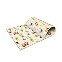 Takefuns 200 x 180cm Baby Folding mat Play mat Extra Large Foam playmat Crawl mat Reversible Waterproof Portable Double Sides Kids Baby Toddler Outdoor or Indoor Use Non Toxic