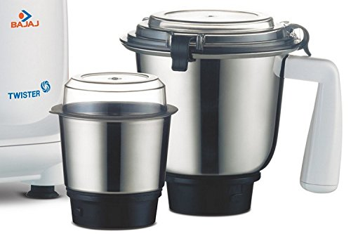 Bajaj Twister 750W Mixer Grinder (White, 3 Jar)