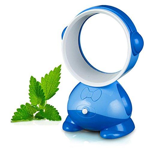 Royal Blue Fan (USB Leafless Fan Studentenwohnheim Desktop Mini Fan Neue Exotische Kreative Geschenk Fan Mute (Farbe : Royal Blue HMD-05))