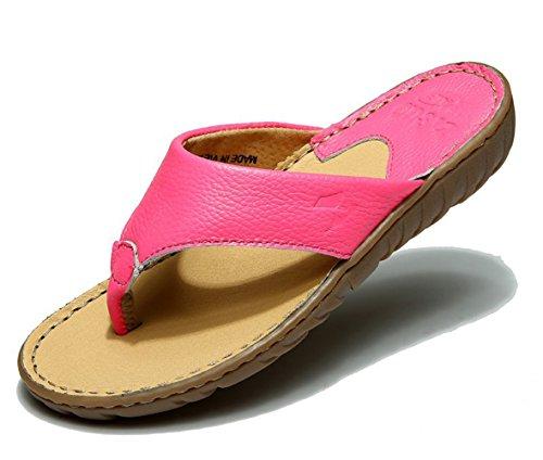 Insun Damen Sandalen Zehentrenner Normal Flach Ohne Verschluss Pantoletten Schuhe Rose