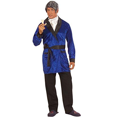 Widmann 56551 - Erwachsenenkostüm Casanova, sortiert aus Samt, Jacke, Gürtel und Halstuch, (Pimp Kostüme Blau)