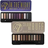 W7 Colour Me Buff Natural Nudes And In The Night Eye Shadow Palette Set by W7