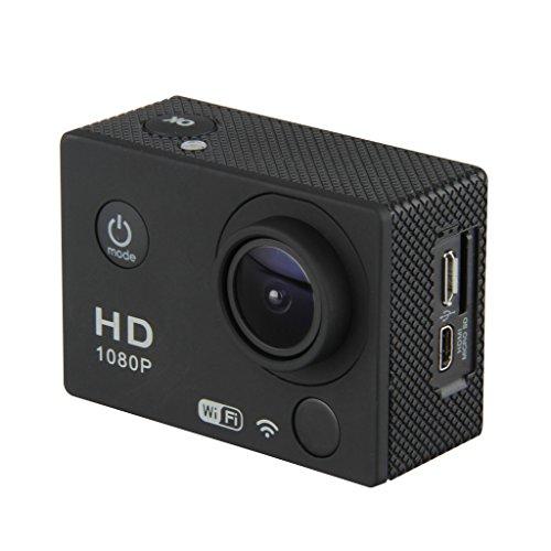 Excelvan DV603D - Videocámara Deportiva Digital (12Mp, Wifi Controle Remoto Andriod y iOS, 170 °, 30m Impermeable, Hd 1080P, ), Negro