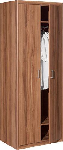 cs schmalm bel 65 79 kleiderschrank 79 soft plus nussbaum. Black Bedroom Furniture Sets. Home Design Ideas