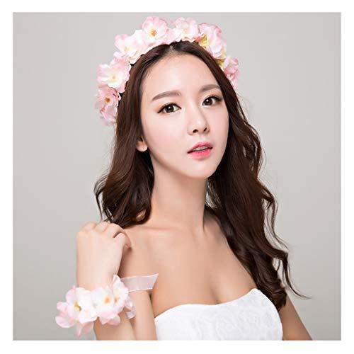 CRR Blumenkranz handgefertigt Corolla Stirnband chinesisches Kostüm Fengguan Kopfschmuck Gold Quaste Drache und Phoenix Hochzeit Haarschmuck