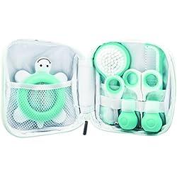Bébé Confort Trousse de Toilette pour Bébé, Inclut un Thermomètre, des Ciseaux, un Coupe-Ongles, un Peigne et une Brosse pour Bébé - Bleu