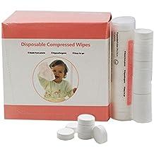 Tokkids Toallitas deshumedecidas,Toallitas para bebe, toallitas comprimidas, coin tissue, 144 pcs