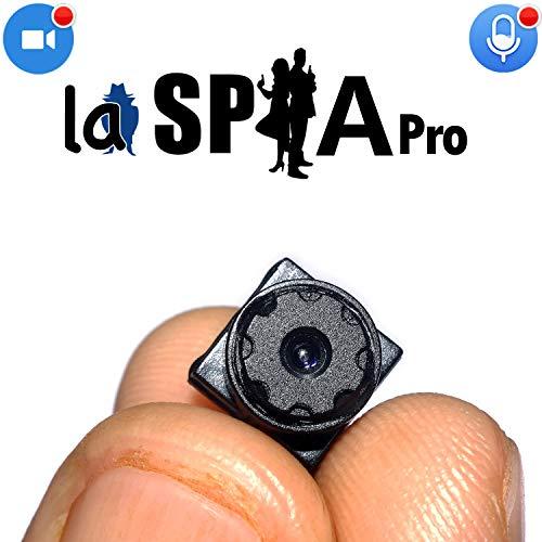 microcamera spia nascosta wifi mini  telecamera videocamere nascosta spy cam HD ultra miniaturizzata-professionale con obiettivo pinhole con rilevazione di movimento una delle più piccole al mondo