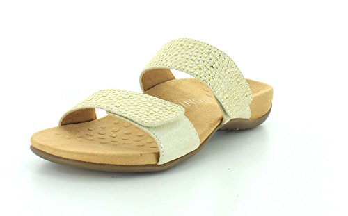 Vionic Womens 341 Samoa Rest Leather Sandals Gold