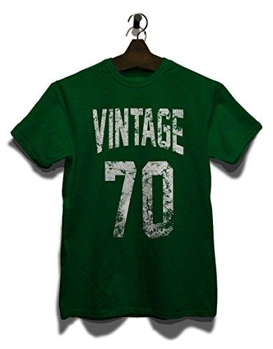Vintage 1970 T-Shirt Dunkel Grün