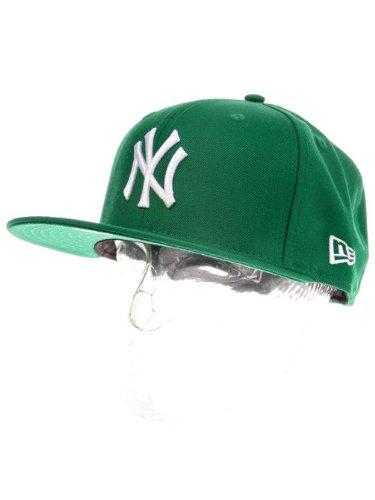 New Era Erwachsene Baseball Cap Mütze Mlb Basic New York Yankees 59Fifty Fitted, Grün,6 7/8inch - 55cm