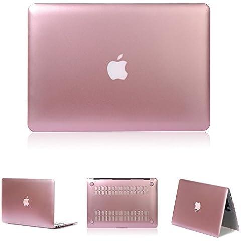 tinxi® Macbook Air 11,6 case, Plástico carcasa funda para Apple Macbook Air 11 -11,6 pulgadas (Modell A1370 A1465) Laptop protectora protectora Cover Tablet Notebook Case con color rosa gold