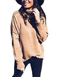 EUR 4,95 · ❤ Suéter de Punto de Cuello Alto de Las Mujeres, Invierno Mantener Caliente Jersey