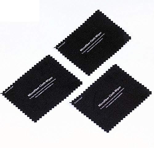 Ganvol 3er Klein Mikrofasertücher 6 x 8 cm, Tragbar Microfasertuch für Handys/Smartphone/Smart Watch (Handy putztuch Es kann in der Handytasche aufbewahrt Werden)
