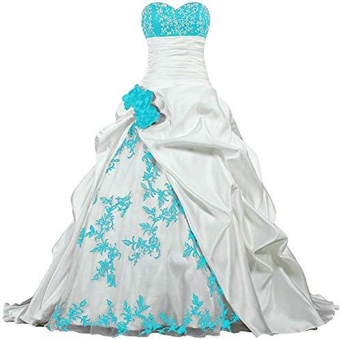Zorayi Damen Elegante Kapelle Zug Prinzessin Ballkleid Brautkleid Hochzeitskleider Elfenbein &...