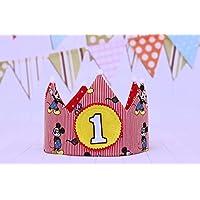 Mikey Mouse Corona cumpleaños niños regalo primero cumpleaños, adorno de fiesta infantil