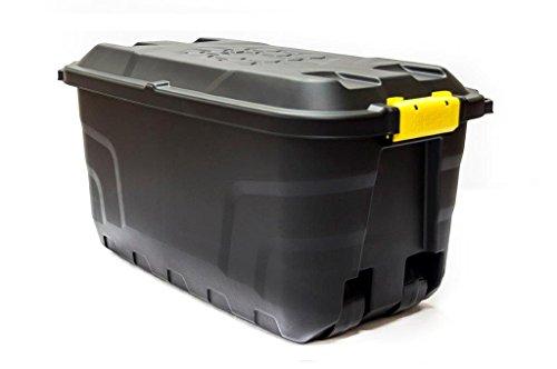 75Liter Rädern Kunststoff wetterfest Mobile Storage Spielzeug Box Gartenwerkzeuge Trunk. Garage Storage-boxen
