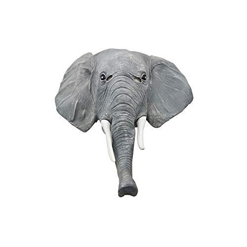 CLHCilihu Máscara de Elefante, Máscara de Elefante de Halloween Foro de látex Novedad Animal Horror Respiración Bar Cosplay Fiesta Adulto Hombres y Mujeres Sombreros (Gris)