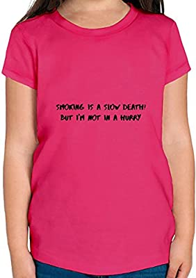 Smoking is a slow death T-shirt Fille
