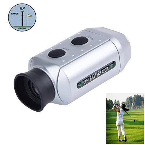 QWER 7X Golf-Entfernungsmesser Multifunktions-Laser-Entfernungsmesser für den Außenbereich mit Knopfzelle und Aufbewahrungstasche,Silver
