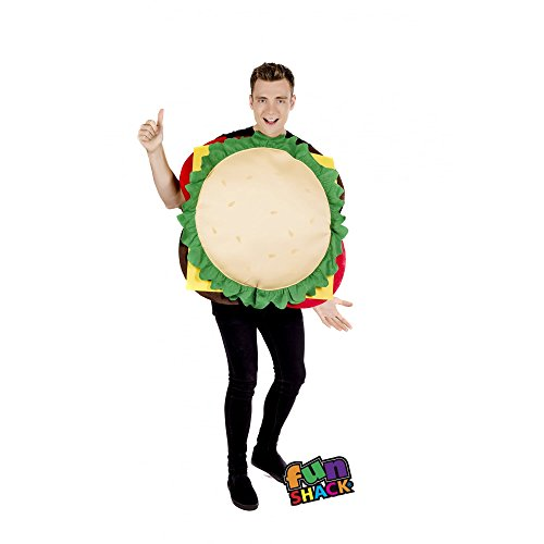 Fun Shack Herren Costume Kostüm, Cheeseburger, ()