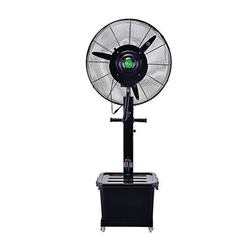 HGNA-Kühl&Heizsystem Großer Luftkühler Große Oszillierende Kühlung Misting Spray Fan für Outdoor-Industrie Business Luftbefeuchter 3-Speed   / 220W / 40L (Schwarz)