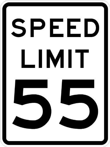 Municipal Supply and Sign Co. Speed Limit 55 Schild, EIN echtes Schild. 10 Jahre Garantie von 3M -