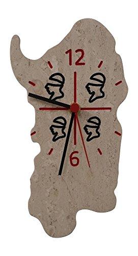 Orologio da parete in marmo di orosei (sardegna)