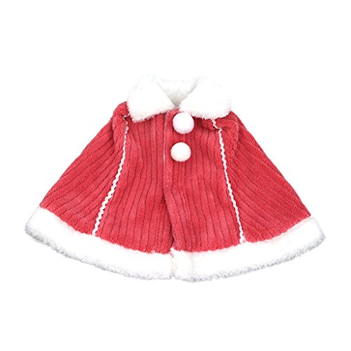 Schal American Doll Girl (MagiDeal Rot Plüsch Schal Umschlagtuch Mit Kleiderbügel, Puppen Winter Kleidung Für 18