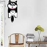 XIXIGZ Pendules Murales Horloge De Chat De Bergeronnette Creative Cartoon Dessin Animé Maternelle Horloge Murale Chambre Balançoire Muette, 06