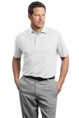 Red House Herren Kontrast Stitch Performance Pique Polo Weiß
