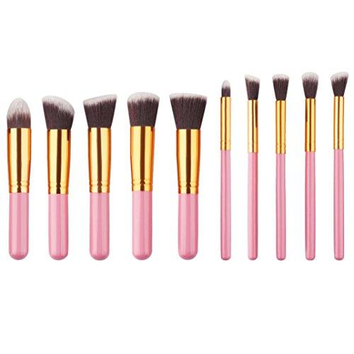 kingko® 10pcs / set Pinceaux de maquillage cosmétiques Set Foundation Powder Eyeshadow Pinceaux