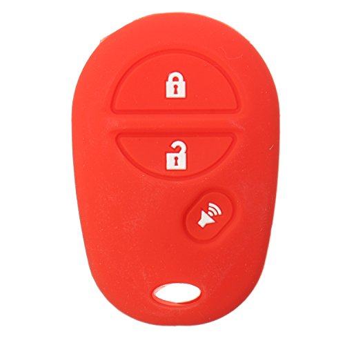JenNiFer 3 Buttons Silicone Key Cover Case Für Toyota Sienna Tacoma Tundra Remote Key - Rosa (Auto Sitzbezüge Tacoma)