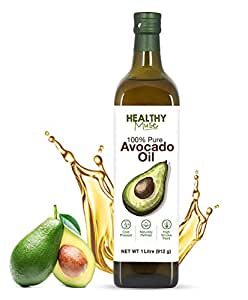 Healthy Muse, Avocado Oil, Cold Press, Chemical Free Oil, 271° C Smoking Point for Heat Cooking, Frying and Baking - 1000 ml