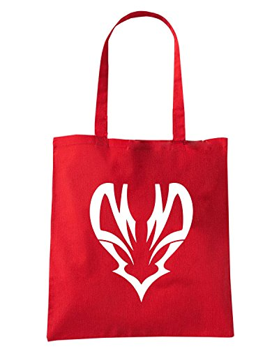 T-Shirtshock - Borsa Shopping FUN0455 2284 tribal sticker design 16 64846 Rosso