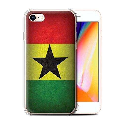 Stuff4® Gel TPU Hülle/Case für Apple iPhone 8 / Ghana/Ghanaischen Muster/Flagge Kollektion Flag Case Zubehör