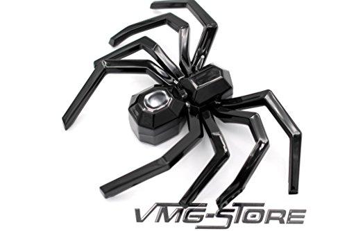 3D Emblem Spinne Schwarz Schaumstoff Kleberückseite von VmG-Store Halloween Deko Kostüm Schminke