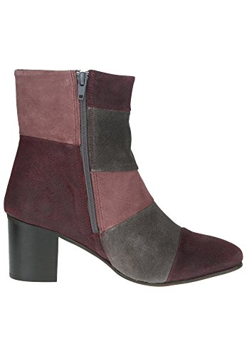 Apple of Eden, Bottes pour Femme bordo/dark grey/brown rose