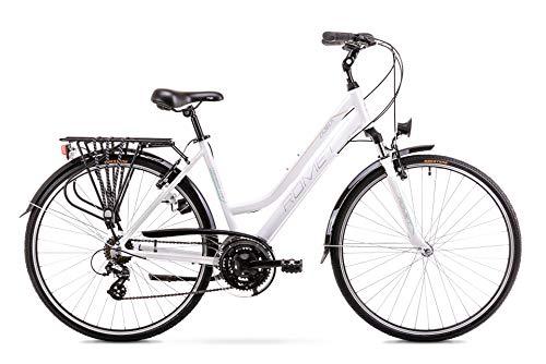 BikeShop. Trekkingrad - Bike - Fahrrad- Romet Gazela - Gängezahl  21 - Aluminiumrahmen - 28 Zoll - Größe 17'' - Weiß -