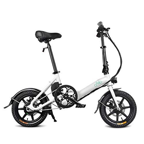 Adminitto88 Faltrad E-Bike, Alu Klapp E-Bike Für Erwachsene 14-Zoll 250 W, 25KM/H, Elektrofahrrad Pedelec Faltrad Für Damen Und Herren, Praktisches Elektro Klapprad